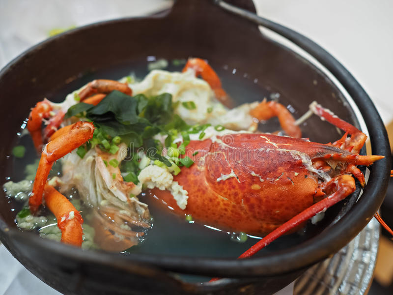 Japanese lobster soup royalty free stock images