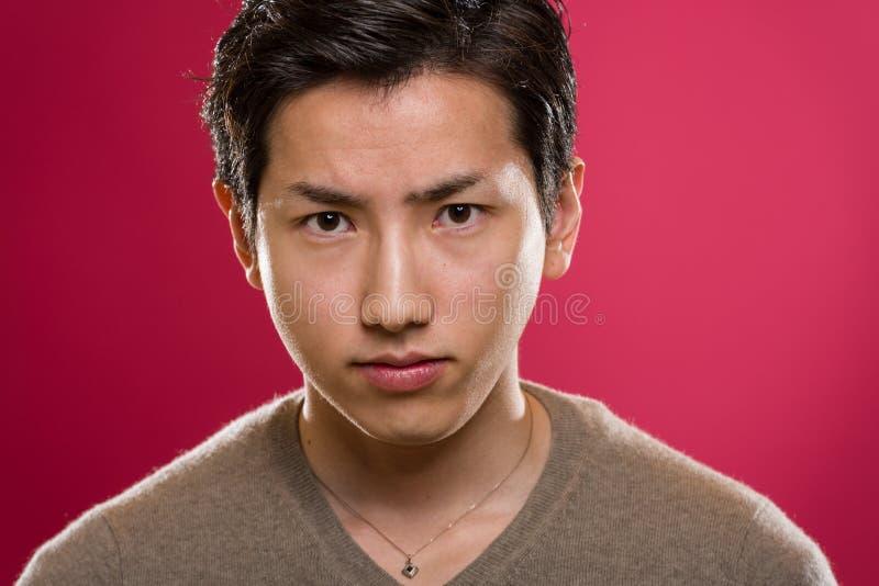 Japanese Man Headshot royalty free stock photo
