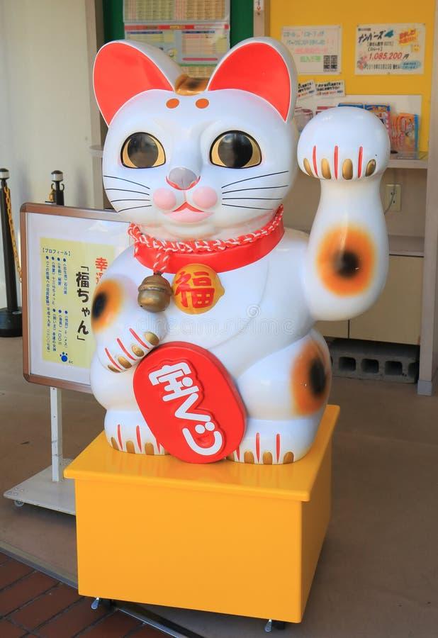 Japanese Manekineko Lucky cat stature Kanazawa Japan. Japanese Manekineko Lucky cat stature in Kanazawa Japan stock image