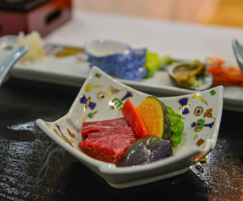 Japanese meal for dinner royalty free stock photo
