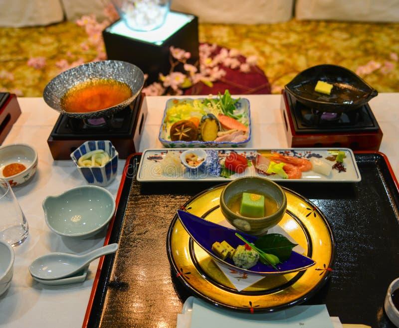 Japanese meal for dinner stock image