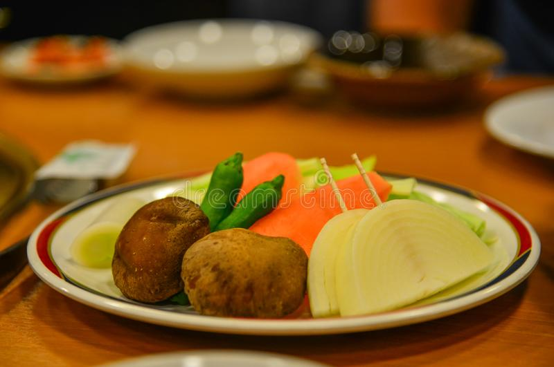 Japanese meal for dinner at local restaurant royalty free stock image
