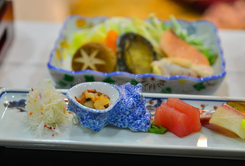 Japanese meal for dinner stock photography