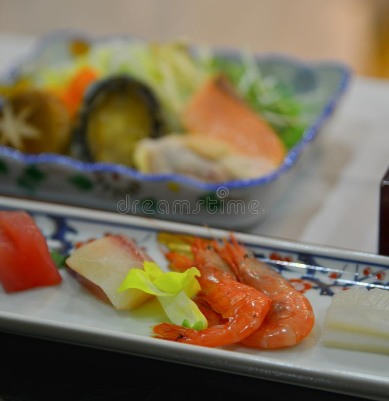 Japanese meal for dinner royalty free stock image