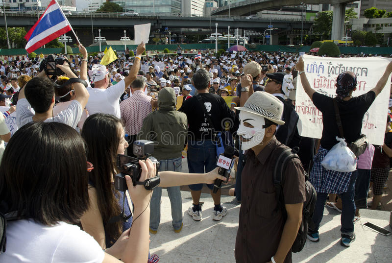 Download Japanese Media Interviews Protest Leader Editorial Photography - Image: 32277142