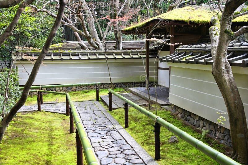 Japanese moss garden. In Kyoto, Japan. Kyoto Kita Ward landmark - Daitokuji royalty free stock images