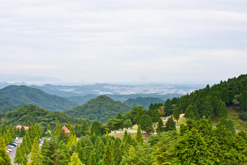 Japanese mountain scape royalty free stock photos