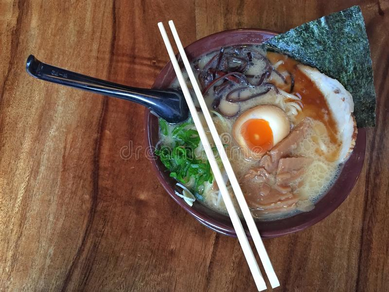 Japanese Noodle Soup royalty free stock photography
