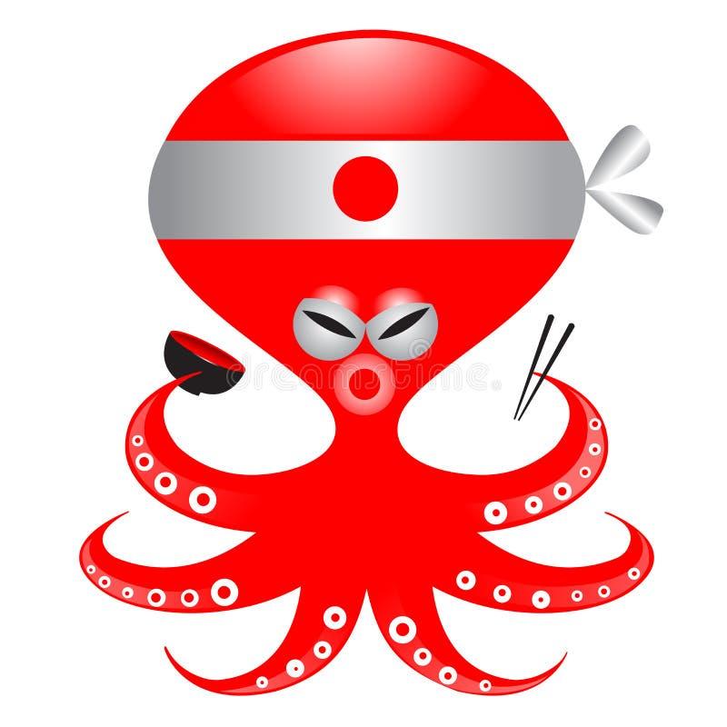 Japanese Octopus stock illustration