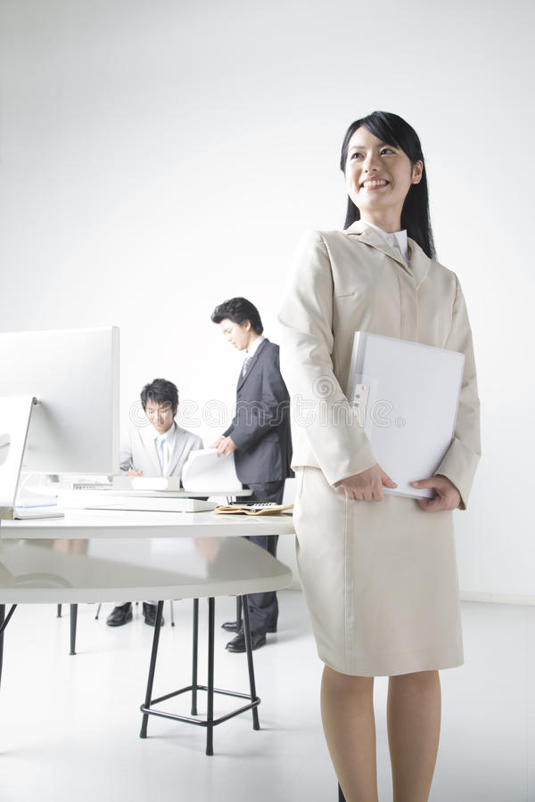 Japanese Office Lady Stock Photo Image Of Asian, Business - 10129644-4057