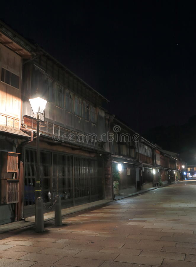 Japanese old house Kanazawa Japan royalty free stock image