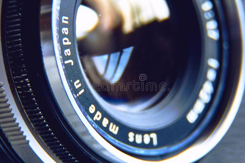Japanese old photographic lens royalty free stock image
