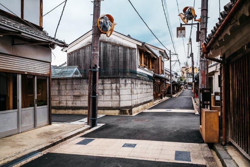 Japanese old town Imaicho in Nara, Japan royalty free stock images