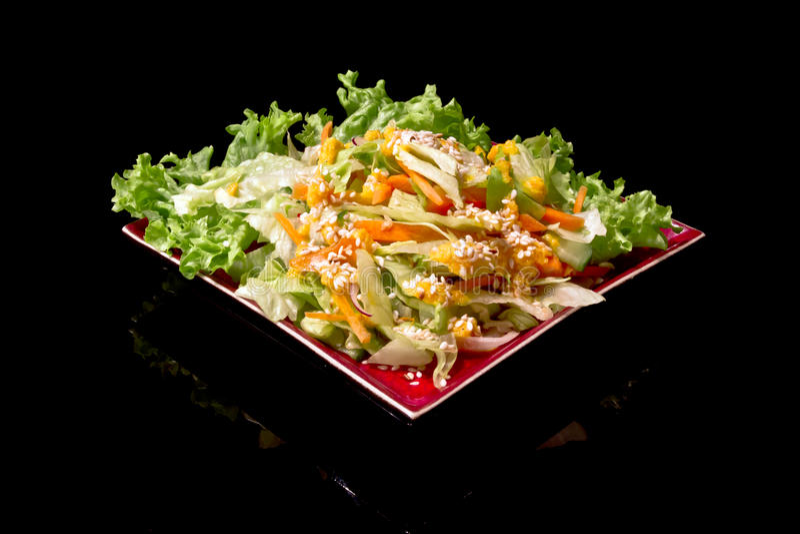 Japanese oriental salad stock photos