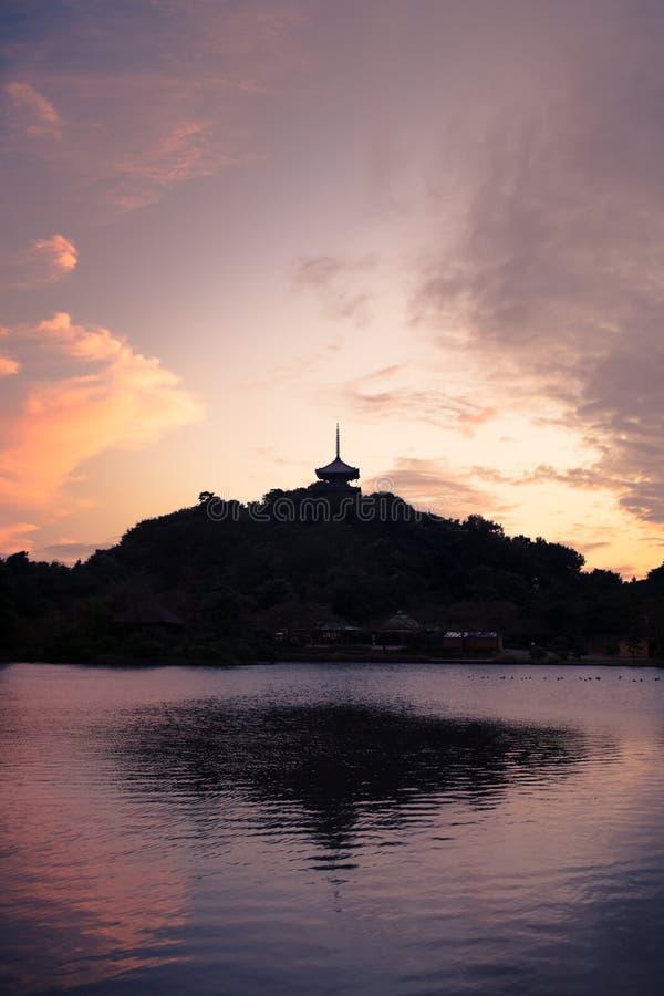 Download Japanese Pagoda Reflection stock photo. Image of blue - 14507566