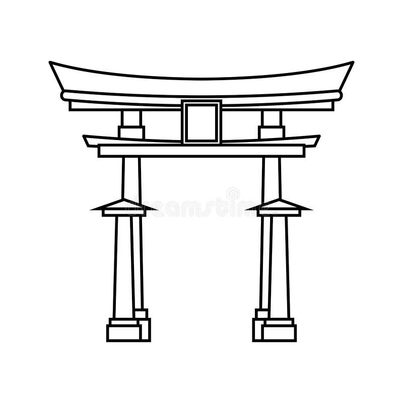 Japanese pagoda temple. Icon illustration graphic design vector illustration