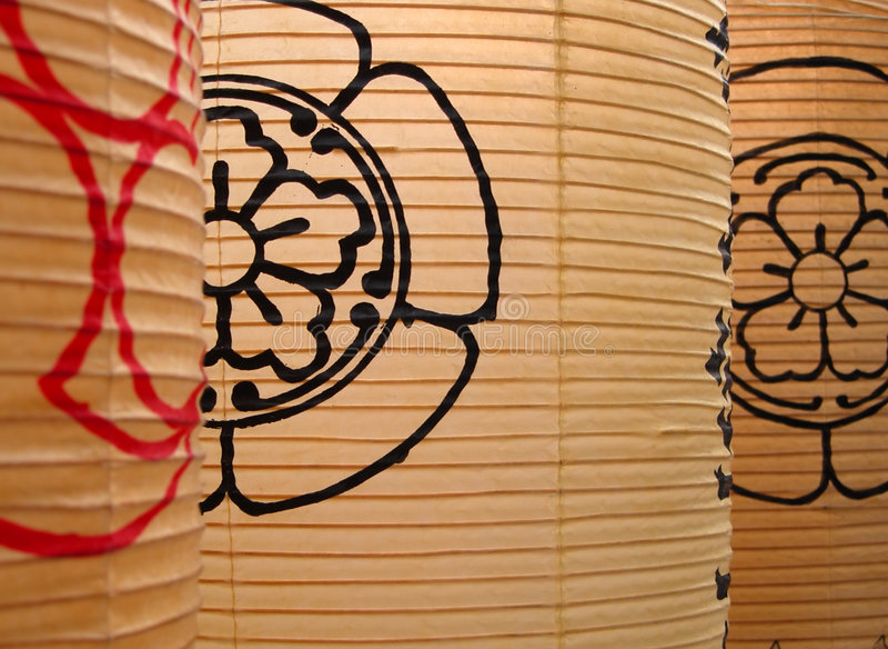 Japanese paper lanterns royalty free stock photo