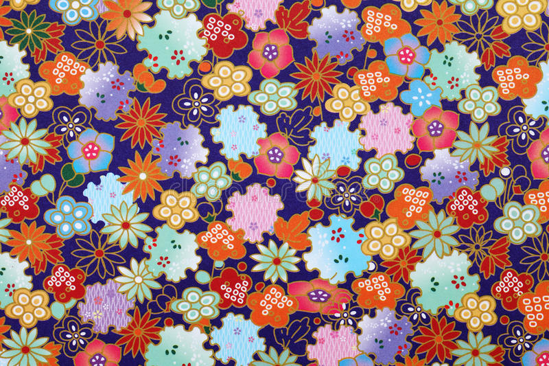 Japanese pattern origami paper stock photography