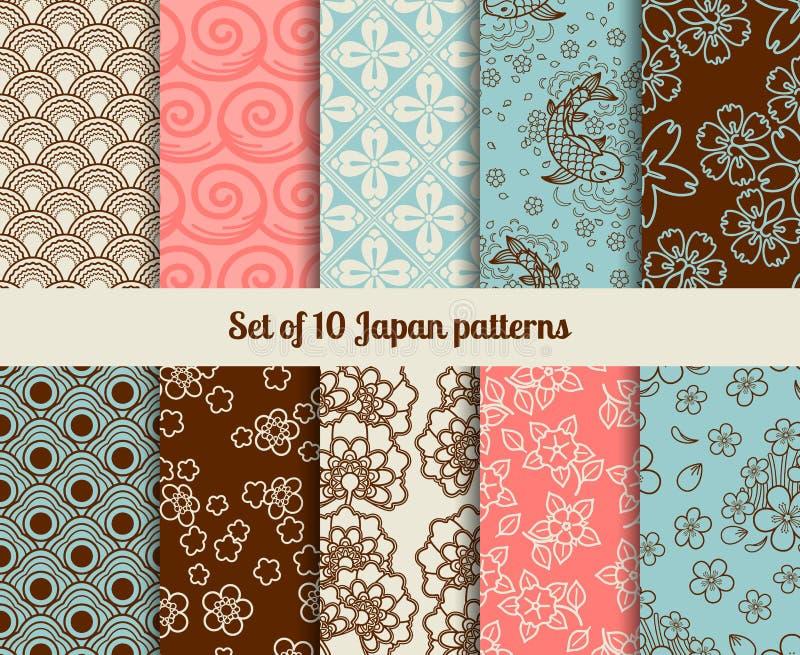 Japanese patterns vector illustration