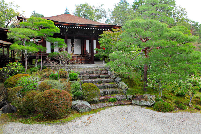 Japanese pavilion. In japan garden stock images