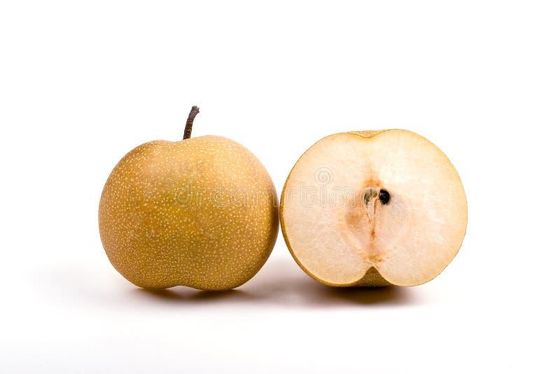 Japanese pear slice stock image