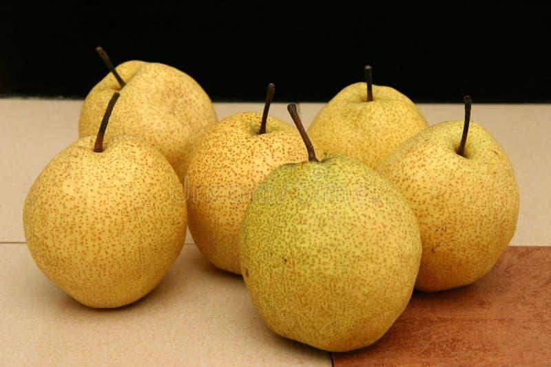 Download Japanese pears stock image. Image of japanese, summer, mottled - 472499