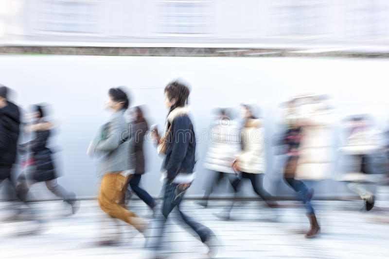 Japanese people walking in the city. A Japanese people walking in the city stock photography