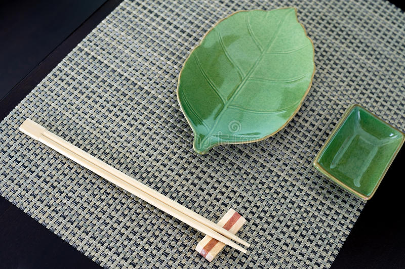 Japanese place setting stock photography