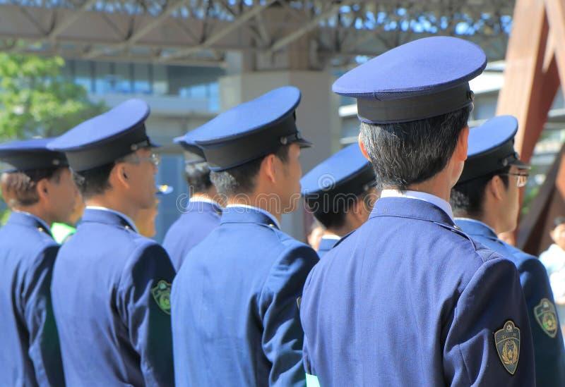 Japanese police officers Japan. Japanese Police officers attend drive safe campaign at Kanazawa Train Station in Kanazawa Japan royalty free stock image