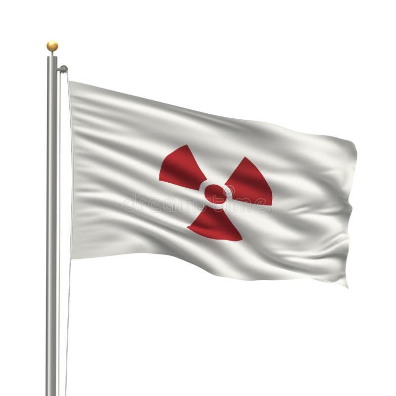 Japanese radioactivity flag vector illustration