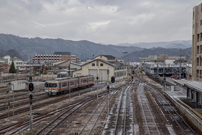 Japanese Railway station in Hida-Takayama station stock photos