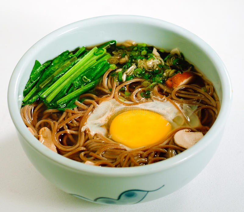 Japanese ramen isolated on white stock photos