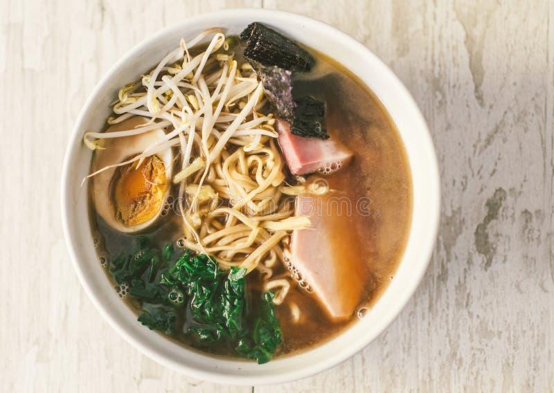 Japanese ramen bowl royalty free stock image