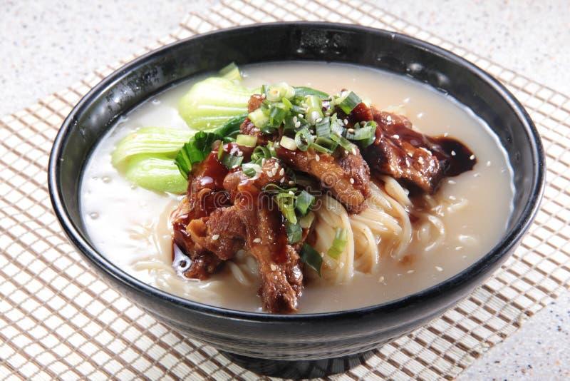 Japanese ramen noodles in soup stock photos