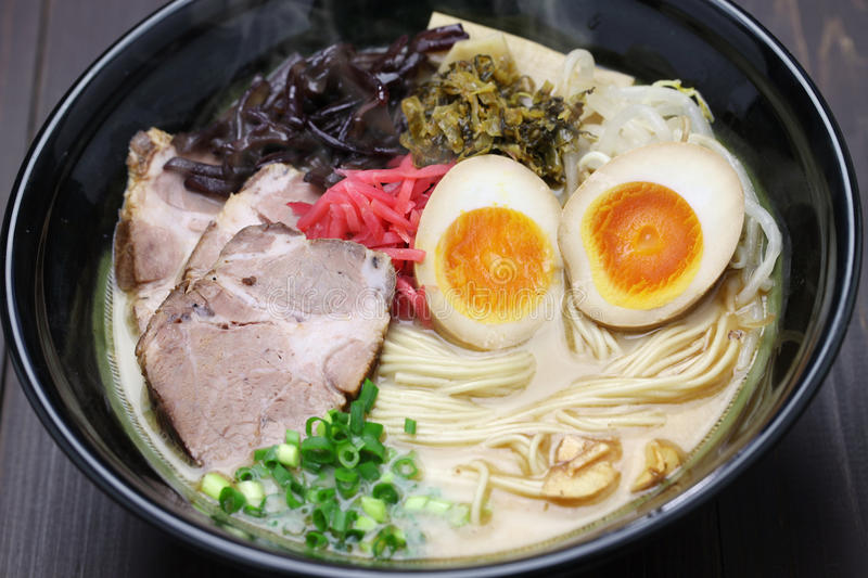 Japanese ramen noodles royalty free stock photography
