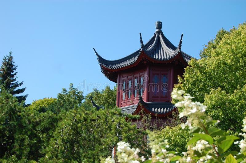 Japanese Red Tower royalty free stock images