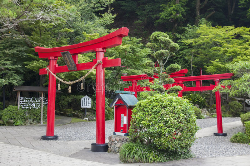Res Wooden Gates: Japanese Red Wooden Torii Gates Stock Image