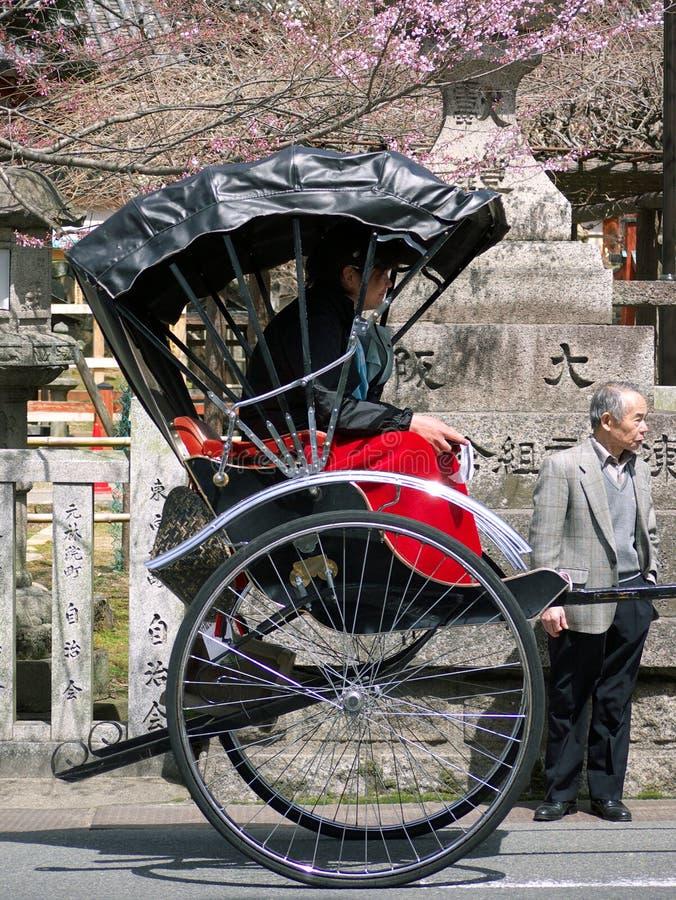 Japanese Rickshaw Ride Nara royalty free stock image