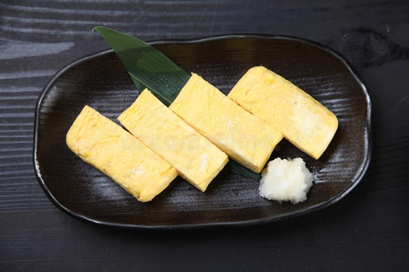 Japanese Rolled Omelet stock photo