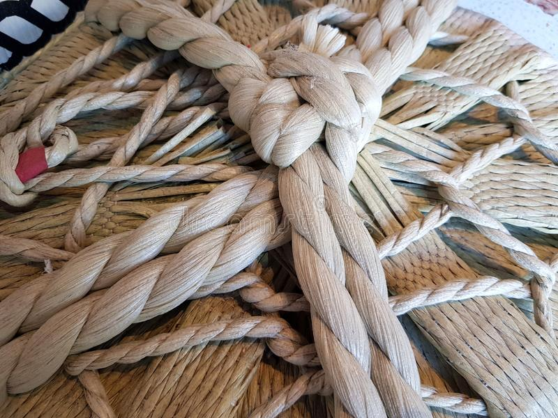 Japanese rope, tied and knotted royalty free stock photography