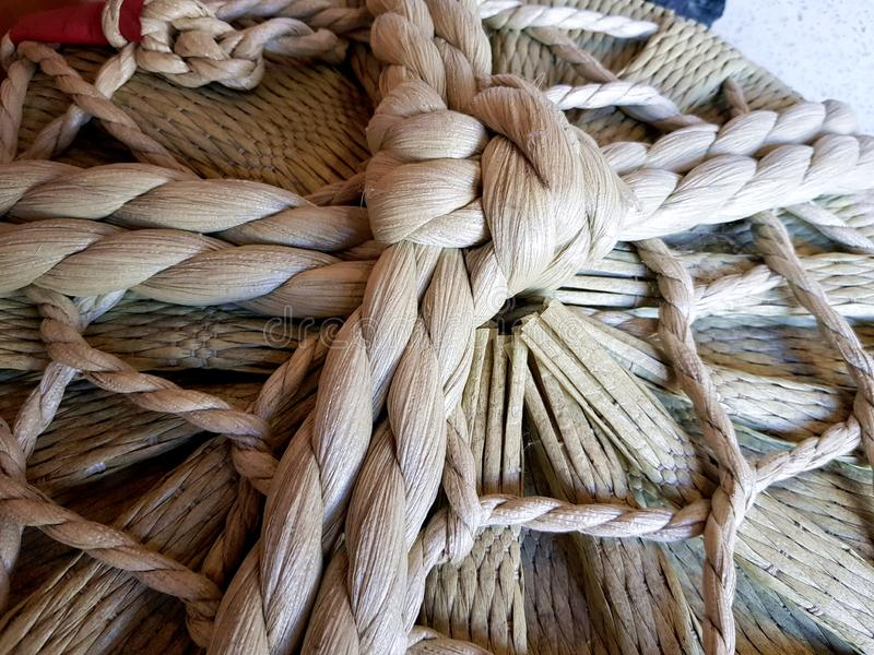 Japanese rope, tied and knotted stock images