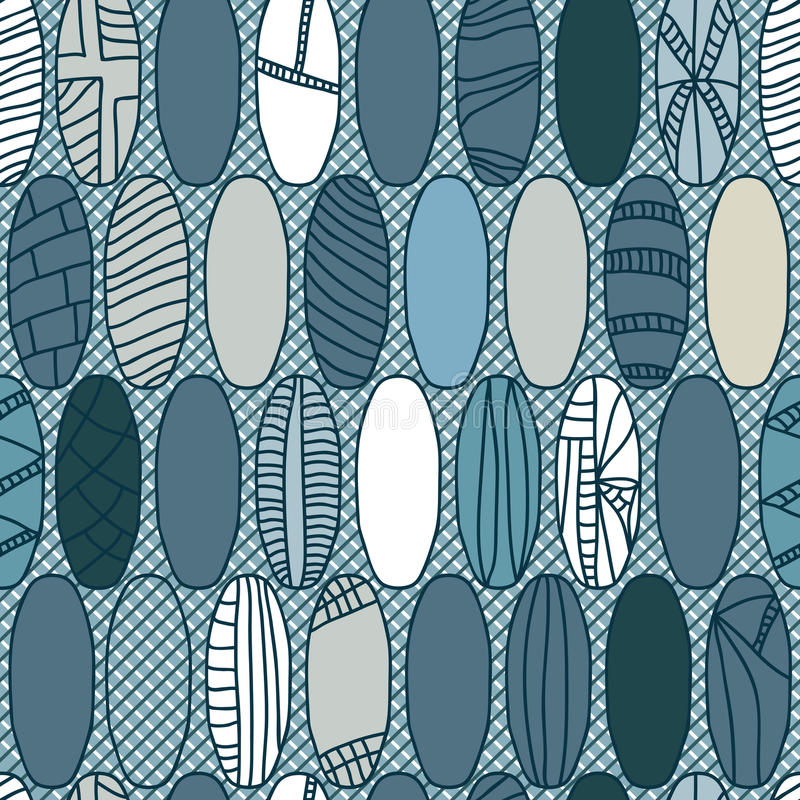 Japanese Rugby Ball Style Seamless Pattern_eps. Illustration of Japanese style with like rugby ball shapes and nets pattern. --- This .eps file info Document: 5 vector illustration