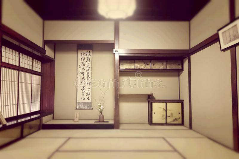 Japanese ryokan room royalty free stock photo
