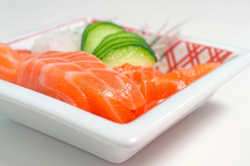Japanese Salmon Sashimi royalty free stock photo