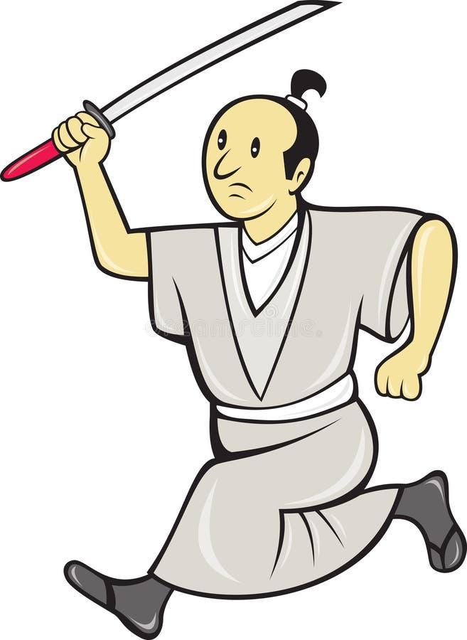 Download Japanese Samurai Warrior With Sword Stock Illustration - Image: 23000774