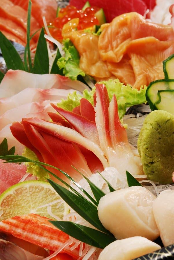 Japanese sashimi set. Assortment of Japanese sashimi set stock images