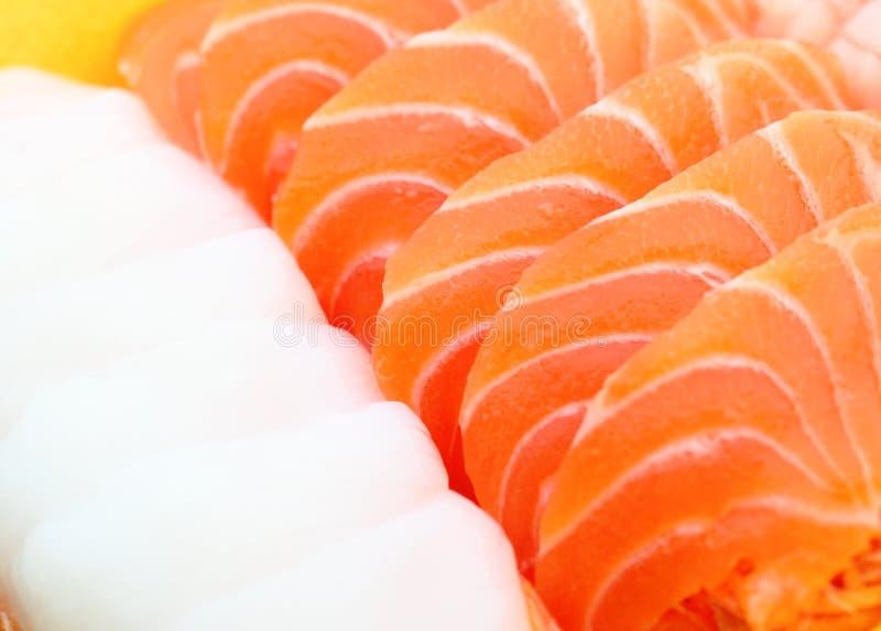 Japanese sashimi. Texture close up stock photography