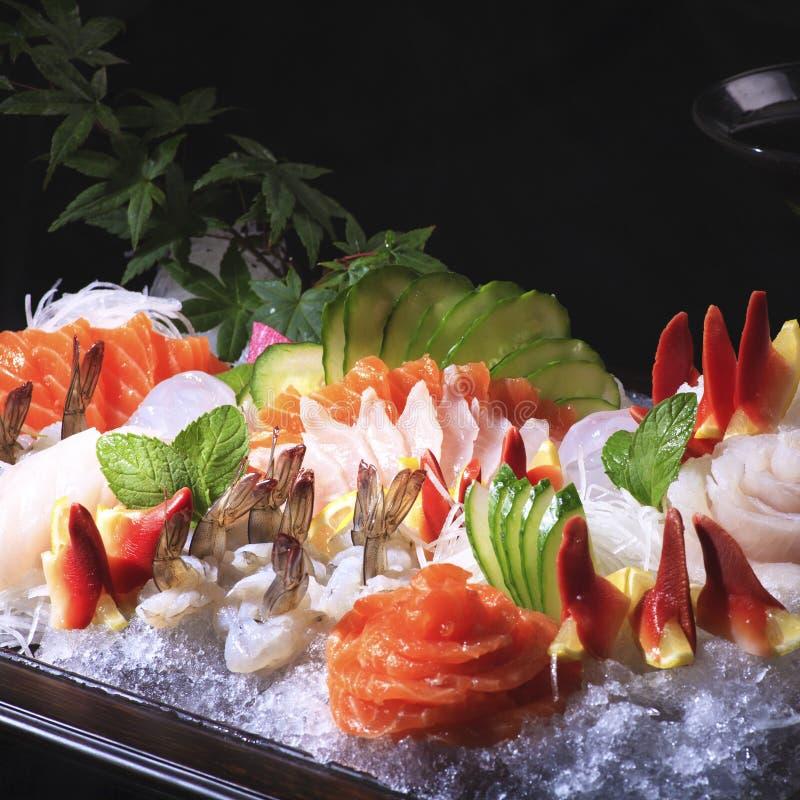 Japanese sashimi. Various types of Japanese sashimi royalty free stock photography