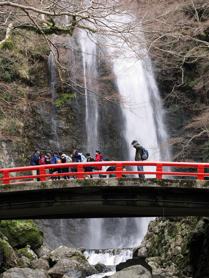 Japanese School Excursion Osaka royalty free stock photo