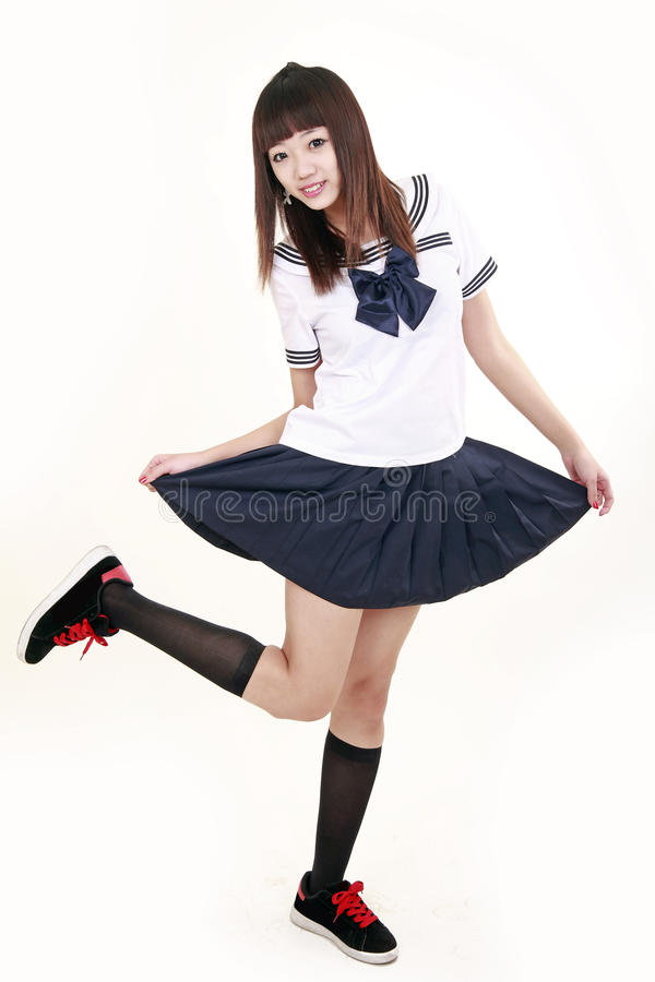 Free Japanese Schoolgirl. Royalty Free Stock Photo - 12644445